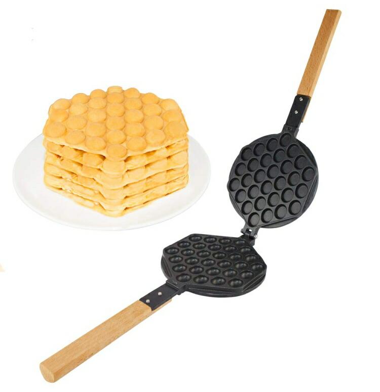 ワッフルメーカー ALD Kitchen IMPROVED Puffle Waffle Maker Professional Rotated Nonstick ALD Kitchen (Grill/Oven for Cooking Puff, Hong Kong Style, Egg, QQ, Muffin, Eggettes and Belgian Bubble Waffles) (MOLD) 送料無料 【並行輸入品】