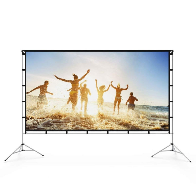ポータブル プロジェクタースクリーン 折りたたみ持ち運び可能 折り畳み Vamvo Outdoor Indoor Projector Screen with Stand Foldable Portable Movie Screen 80 Inch (16:9) Full-Set Bag for Home Theater Camping and Recreational Events (80 i 送料無料 【並行輸入品】