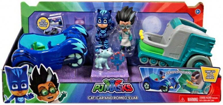 しゅつどう!パジャマスク パジャママスク PJマスク フィギュア PJMASK CAT-CAR AND ROMEOS LAB 送料無料 【並行輸入品】