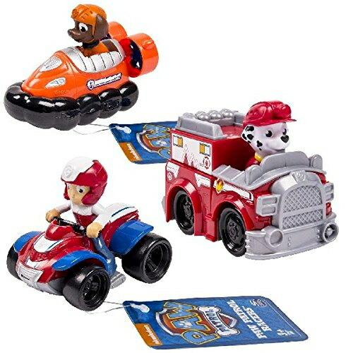 パウパトロール 犬のレスキュー隊 PAW Patrol フィギュア Paw Patrol Racers 3-Pack Vehicle Set, Ryder, Zuma, Marshall 送料無料 【並行輸入品】