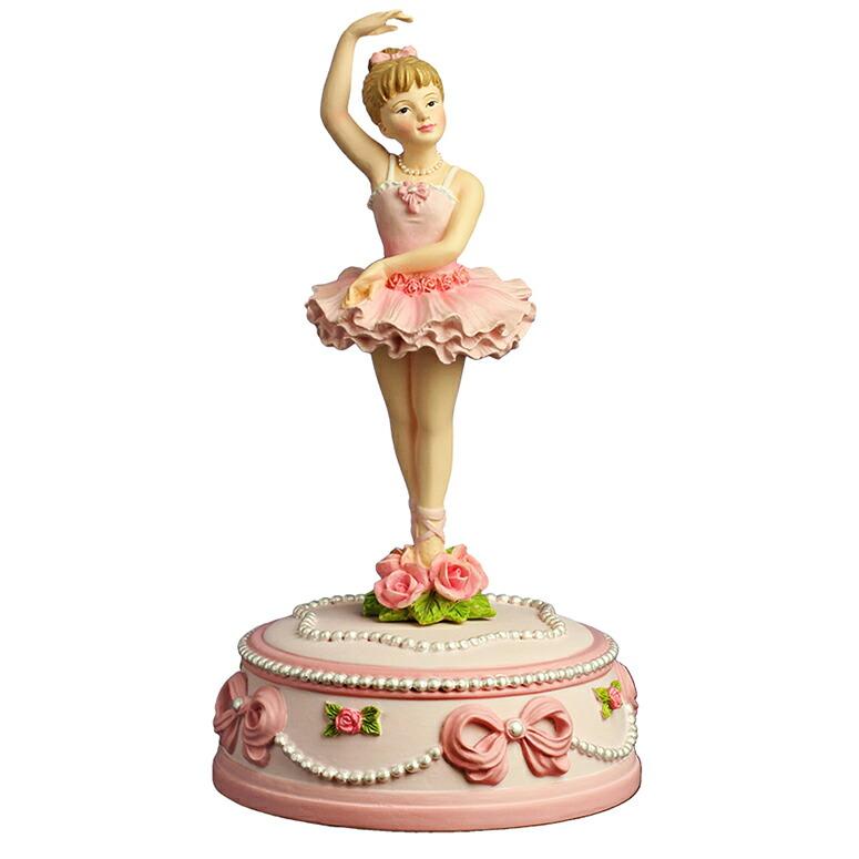 オルゴール Dance, Ballerina, Dance サンフランシスコ・オルゴール社製 Ballerina and Bows Rotating Musical Figurine by The San Francisco Music Box Company 送料無料 【並行輸入品】