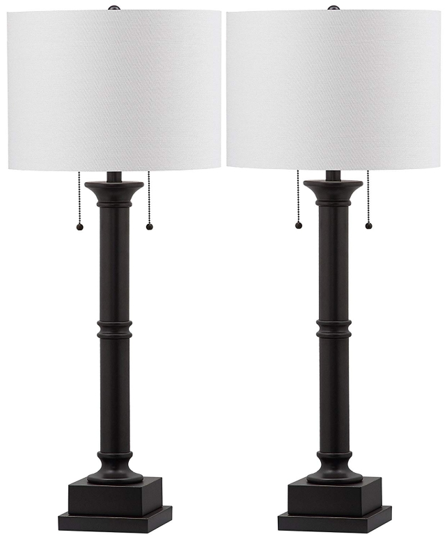 サファヴィヤ safavieh テーブルランプ サファビヤ Safavieh Lighting Collection Estilo Column Silver Grey 35.25-inch Table Lamp (Set of 2) 送料無料 【並行輸入品】