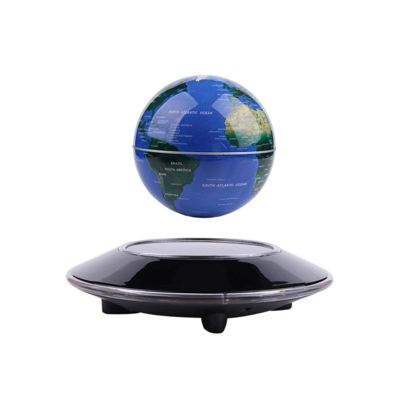 地球儀 浮く地球儀 直径15cmの地球儀 LYNICESHOP 6'' Magnetic Levitation Floating Globe Anti Gravity Rotating World Map with LED Light for Children Educational Gift Home Office Desk Decoration 送料無料 【並行輸入品】