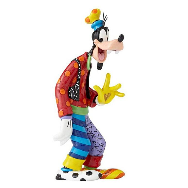 エネスコ ディズニー 85th フィギュア 置物 Britto Goofy グーフィー Disney by Britto Goofy 85th Anniversary Stone Resin Figurine 送料無料 【並行輸入品】