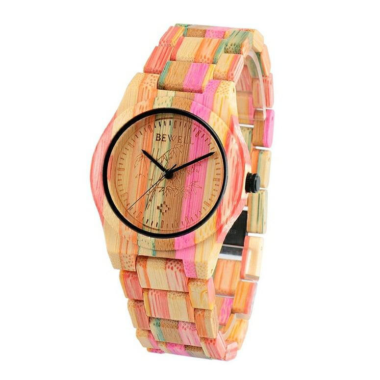 ビーウェル BEWELL ウッドウォッチ 木製腕時計 女性用 腕時計 レディース ウォッチ ベージュ US-W105DG-2 送料無料 【並行輸入品】