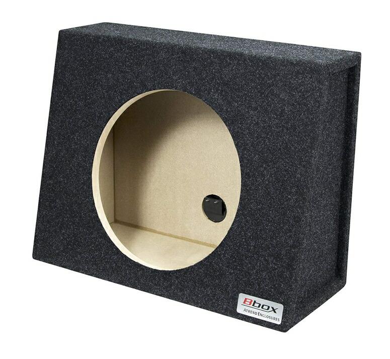 ウーファーボックス 10インチ W504×H387×D215(127)mm、ホールФ231mm 密閉型 エンクロージャー サブウーファー用 ウーファーBOX カーペット トラック Bbox E10ST Single 10
