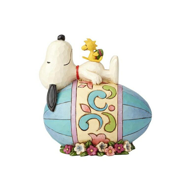イースター 復活祭 スヌーピーとたまご ピーナッツ エネスコ ジム ショア ハートウッド クリーク フィギュア 置物 Enesco 4059432 Peanuts by Jim Shore Snoopy and Woodstock Good Eggs Figurine 5