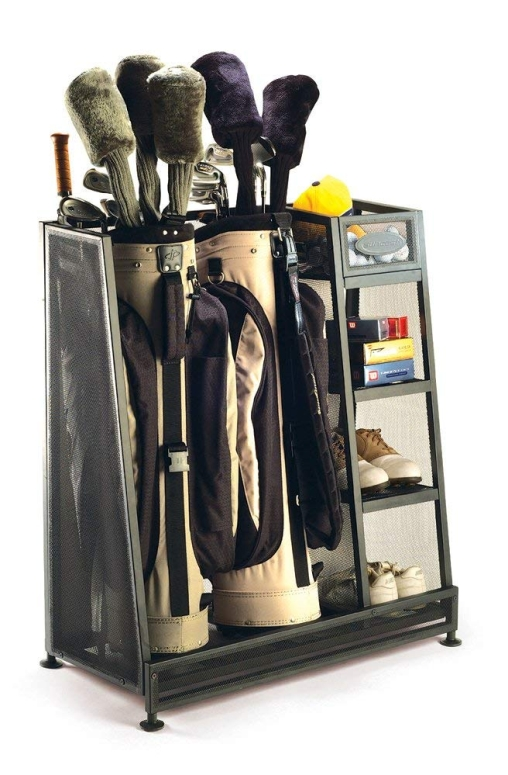 ゴルフバッグ収納ラック ゴルフバック オーガナイザー 収納 ガレージ 小屋 地下室に Suncast Golf Bag Garage Organizer Rack - Golf Equipment Organizer Storage -? Store Golf Bags, Clubs, and Accessories - Perfect for Garage, Shed, Basemen 送料無料 【並行輸入品】
