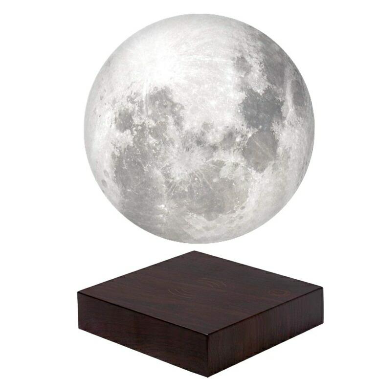 マグネット ムーンライト 約18cm マジックフロート ナイトライト VGAzer Moon Lamp 3D Printing Magnetic Levitating Moon Light Lamps for Home、Office Decor, Creative Gift-6 Inch (White) 送料無料 【並行輸入品】