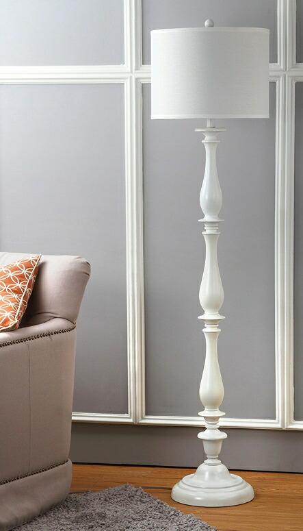 サファヴィヤ safavieh スタンドランプ サファビヤ Safavieh Lighting Collection Bessie Candlestick White 62-inch Floor Lamp 送料無料 【並行輸入品】