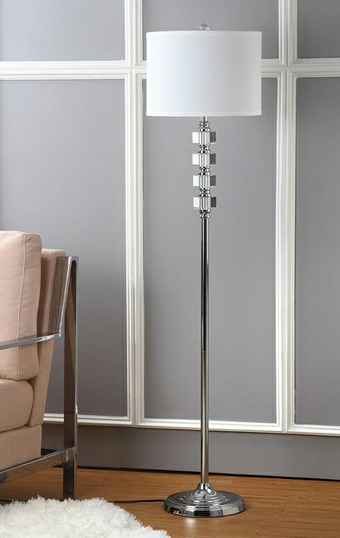 サファヴィヤ safavieh スタンドランプ サファビヤ Safavieh Lighting Collection Lombard Street Clear 60.25-inch Floor Lamp 送料無料 【並行輸入品】