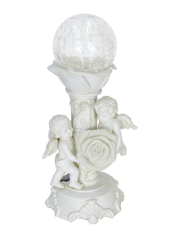 ガーデンライト LEDソーラーライト エンジェル 天使 ベビー 赤ちゃん HOMESHINE Solar Cherub Angel Baby Garden Statues and Figurines Outdoor Decorations Color Changing Lights 12 Inch 送料無料 【並行輸入品】