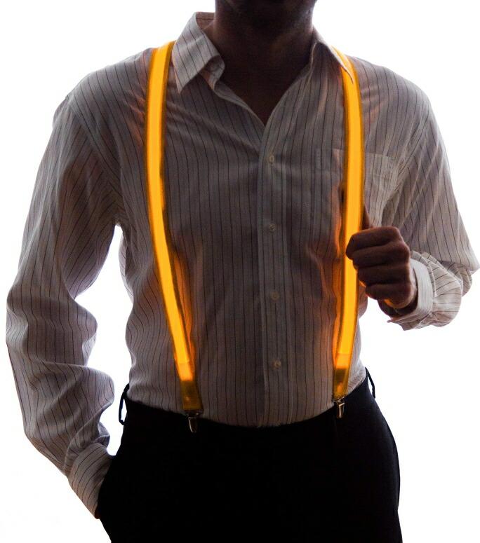 ネオン ナイトライフ メンズ ライトアップ LED サスペンダー Neon Nightlife Men's Light Up LED Suspenders, One Size, Yellow 送料無料 【並行輸入品】