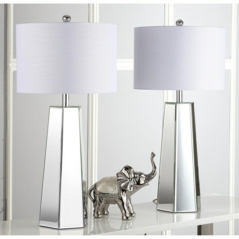 safavieh おしゃれなデザイン テーブルランプ Safavieh Lighting Collection Janice Clear 31.5-inch Table Lamp (Set of 2) 送料無料 【並行輸入品】