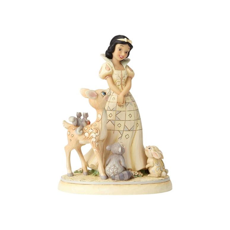 白雪姫 エネスコ ジム ショア ハートウッド クリーク フィギュア 置物 Enesco Disney Traditions by Jim Shore Woodland Snow White Figurine, 7.8