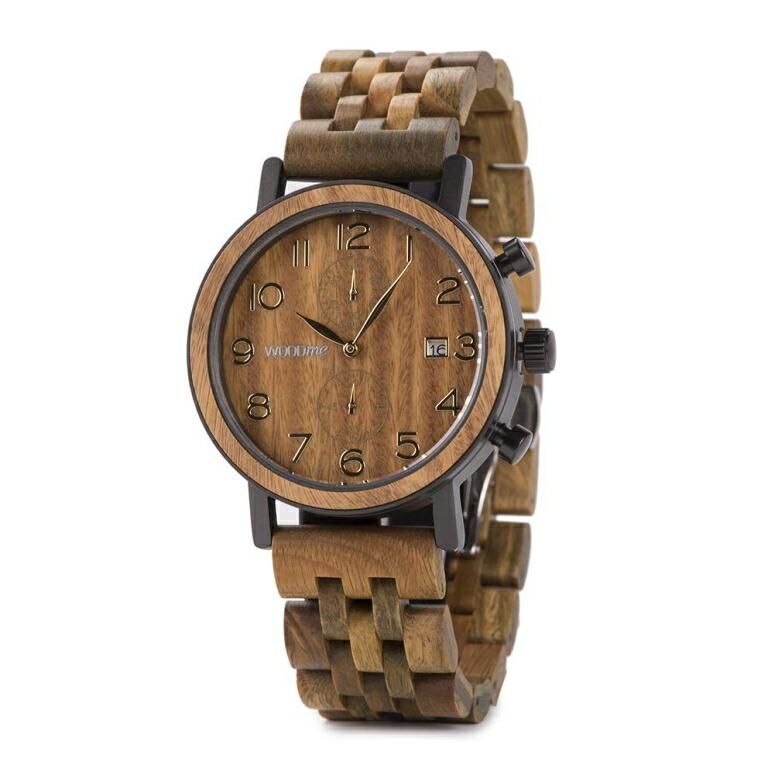ウッドミー WOODME ウッドウォッチ 木製腕時計 男性用 腕時計 メンズ ウォッチ ブラウン S08-3 送料無料 【並行輸入品】