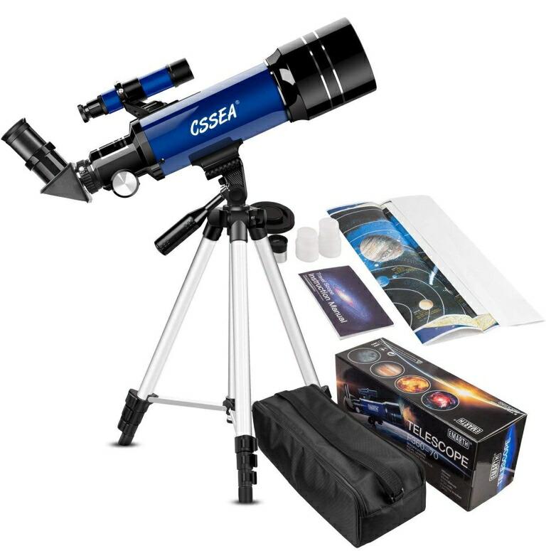 天体望遠鏡 テレスコープ 天体観測 Kids Telescope for Beginners Adult, 70mm Astronomical Refractor Telescope with Adjustable Tripod & & Finder Scope- Portable Travel Telescope for Children Teens 送料無料 【並行輸入品】