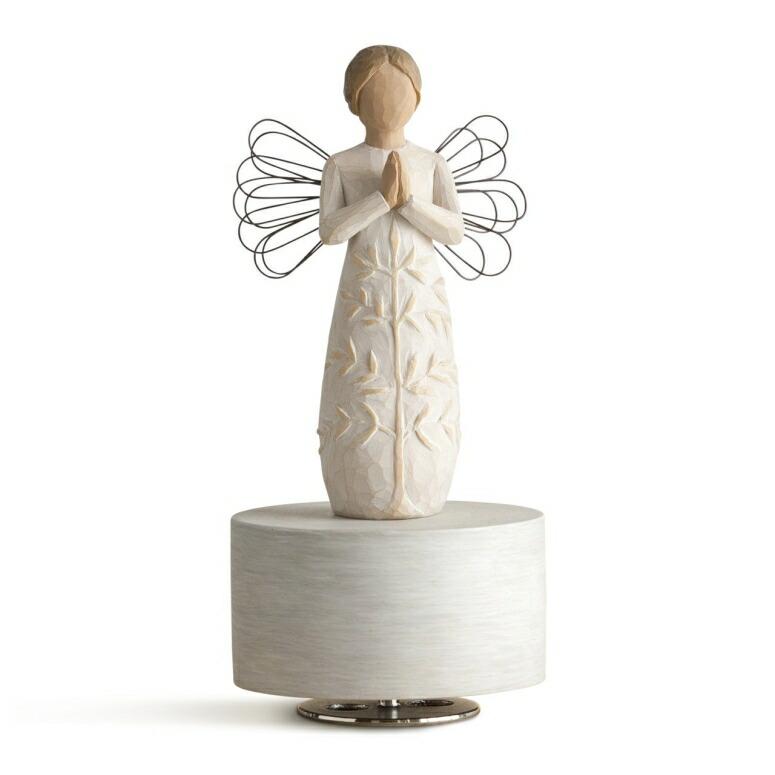 ウィローツリー オルゴール ミュージカル アメージング・グレース Willow Tree a tree, a prayer Musical, sculpted hand-painted musical figure 送料無料 Amazing Grace 【並行輸入品】