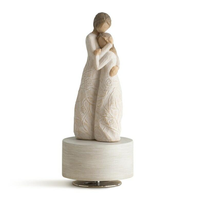 ウィローツリー オルゴール ミュージカル Debussy's Clair de Lune ドビュッシー 月の光 Willow Tree Close to me Musical, sculpted hand-painted musical figure 送料無料 【並行輸入品】