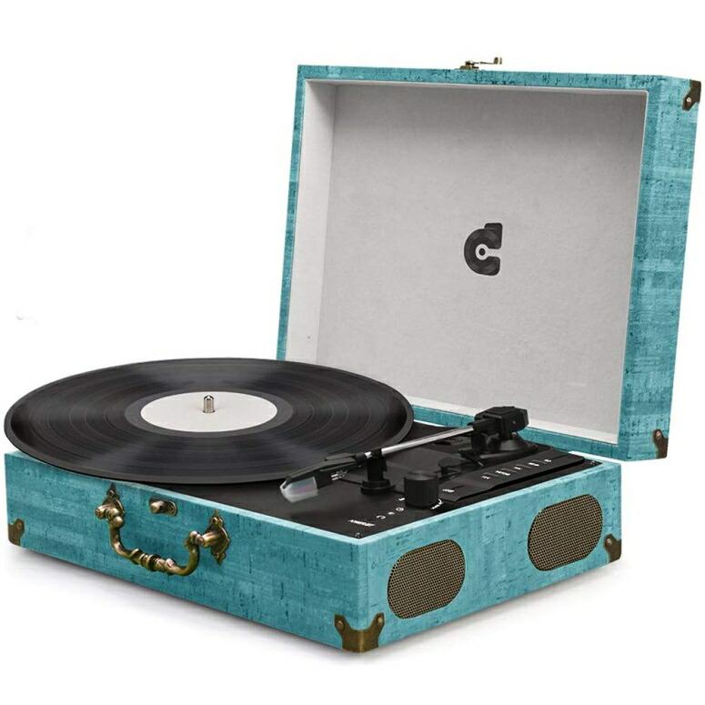レコードプレイヤー ポータブル 持ち運び可能 スーツケース 鞄 3 Speed Record Player LP Turntable Vinyl Record Player with Built-in Speakers Wireless Phonograph Vintage Classic Suitcase Style Portable USB SD Play 送料無料 【並行輸入品】