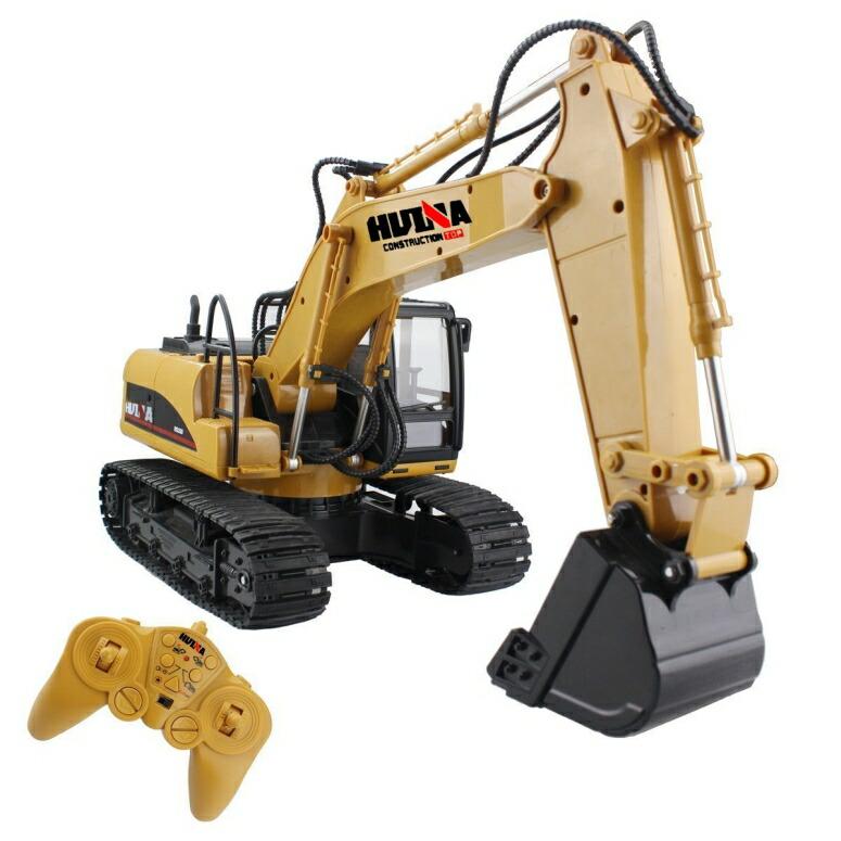 ラジコン ショベルカー おもちゃ Fisca Remote Control Excavator RC Construction Vehicles 今季も再入荷 15 Sound and 定価 Digger 2.4G Lights Toys Channel Full 並行輸入品 with Function