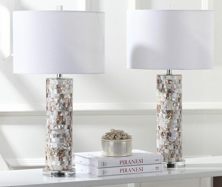 サファヴィヤ safavieh テーブルランプ サファビヤ Safavieh Lighting Collection Boise Cream 28.9-inch Table Lamp (Set of 2) 送料無料 【並行輸入品】