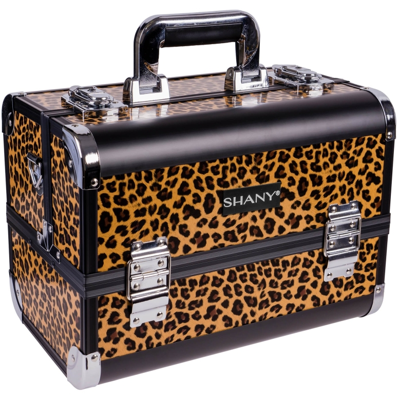 アーティストキャリアー 美容師かばん メイクボックス メイクアップ アーティスト 出張メイク 美容師バック SHANY Fantasy Collection Makeup Artists Cosmetics Train Case - Leopards texture 送料無料 【並行輸入品】