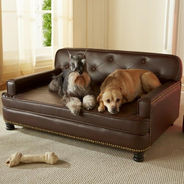 ラグジュアリー ペットソファ 高級 ペットベッド 超小型犬 小型犬 犬 ベッド ペット 犬 猫 Enchanted Home Pet Library Sofa, 40.5 by 30 by 18-Inch, Brown 送料無料 【並行輸入品】