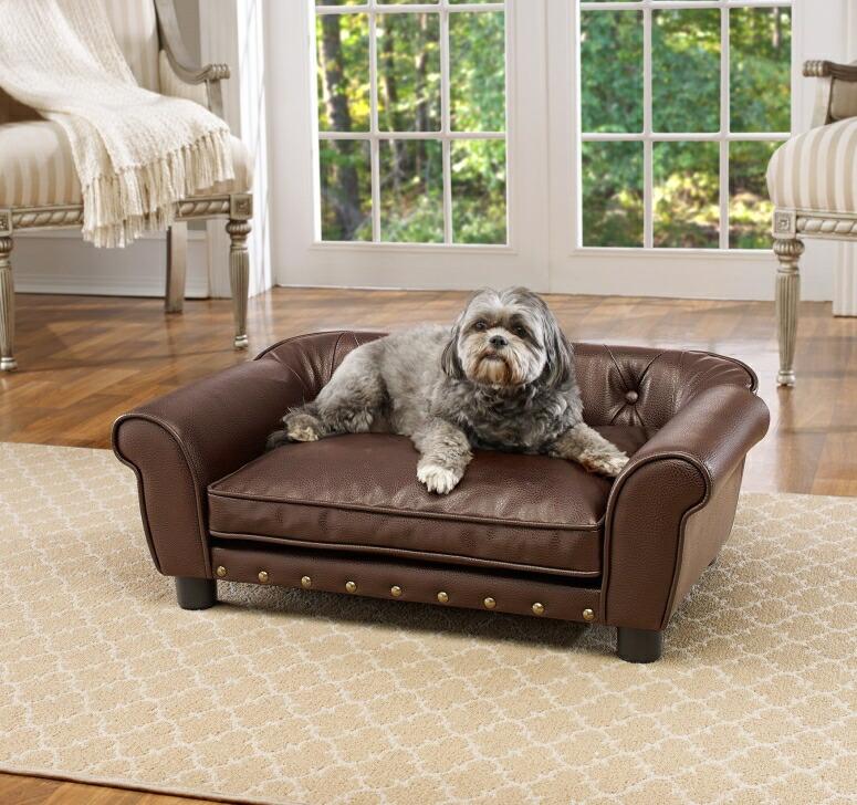 ラグジュアリー ペットソファ 高級 ペットベッド 超小型犬 小型犬 犬 ベッド ペット 犬 猫 Enchanted Home Pet Brisbane Tufted Pet Bed 送料無料 【並行輸入品】