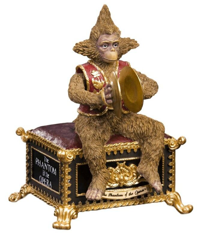 オルゴール オペラ座の怪人 猿 ファントム・オブ・ジ・オペラ The San Francisco Music Box Company Phantom of The Opera Musical Monkey Figurine 送料無料 【並行輸入品】