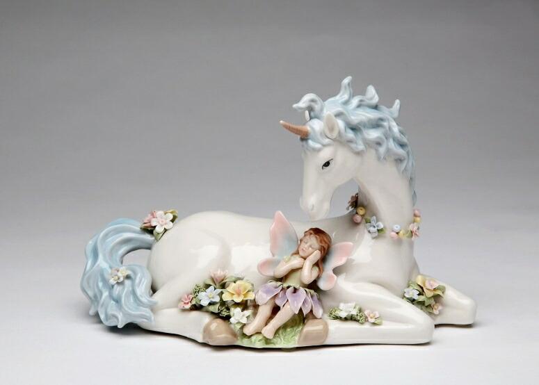 オルゴール ユニコーンと妖精 Cosmos Gifts Porcelain Unicorn with Butterfly Wings Fairy Musical Box Figurine (Music Tune: The Unicorn) 8