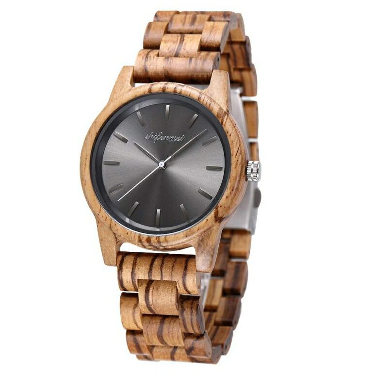 シフェンメイ shifenmei ウッドウォッチ 木製腕時計 女性用 腕時計 レディース ウォッチ グレイ SFM-5512 送料無料 【並行輸入品】