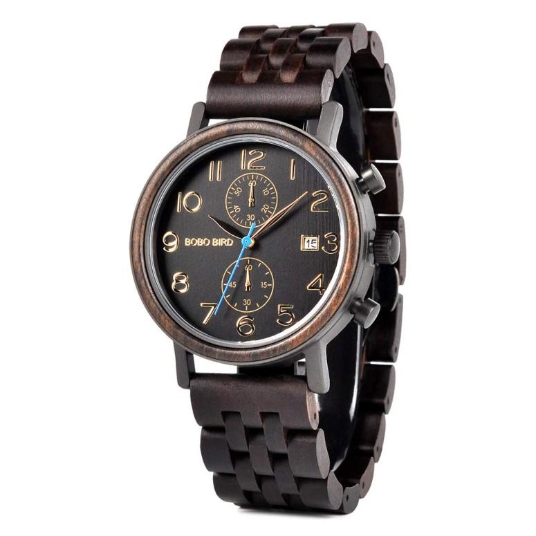ボボバード BOBO BIRD ウッドウォッチ 木製腕時計 男性用 腕時計 メンズ ウォッチ ダークブラウン S08 送料無料 【並行輸入品】