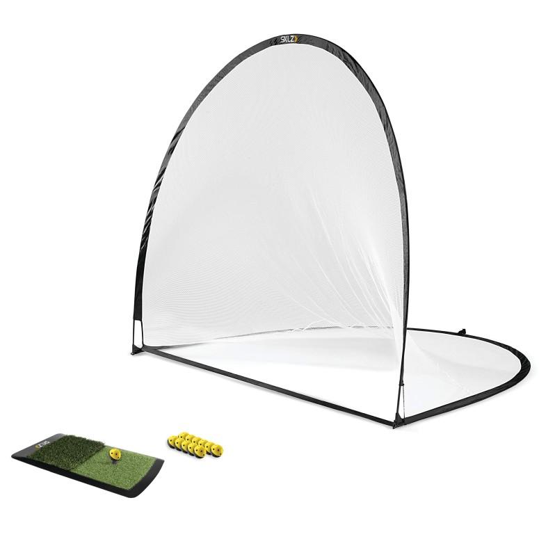 スキルズ ホームゴルフドライビングレンジキット ネット ゴルフボール ラウンチパッド ティー付き SKLZ Home Golf Driving Range Kit with Net, Golf Balls, Launch Pad, and Tees 送料無料 【並行輸入品】