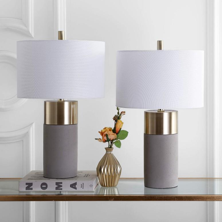 サファヴィヤ safavieh テーブルランプ サファビヤ Safavieh LIT4452A-SET2 Lighting Collection Oliver Grey Table Lamp 送料無料 【並行輸入品】