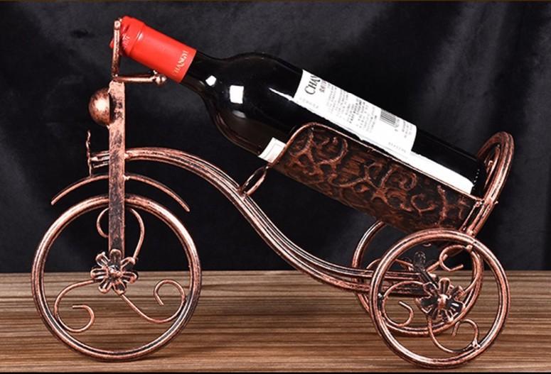 ワインホルダー 自転車 卓上ワインラック CdyBox Wrought Iron Wine Holder/Rack Bike Shape Tricycle Art Home Decor (Bronze) 送料無料 【並行輸入品】
