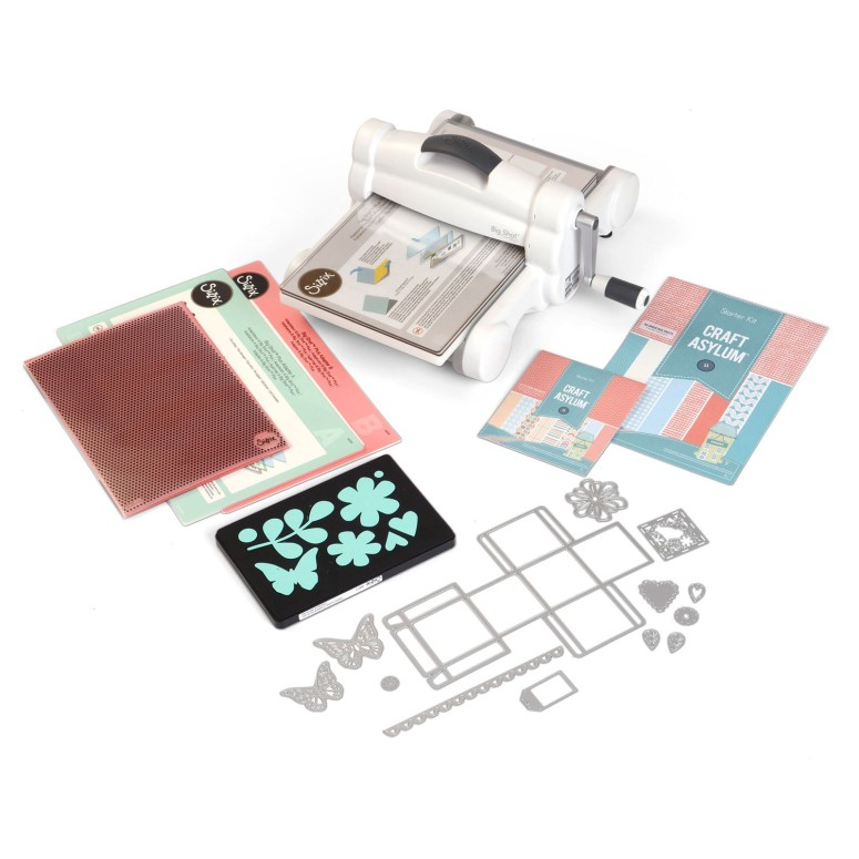 "ダイカットマシーン Sizzix Big Shot Plus Starter Kit 660341 Manual Die Cutting & Embossing Machine for Arts & Crafts, Scrapbooking & Cardmaking, 9"" Opening 送料無料 【並行輸入品】"