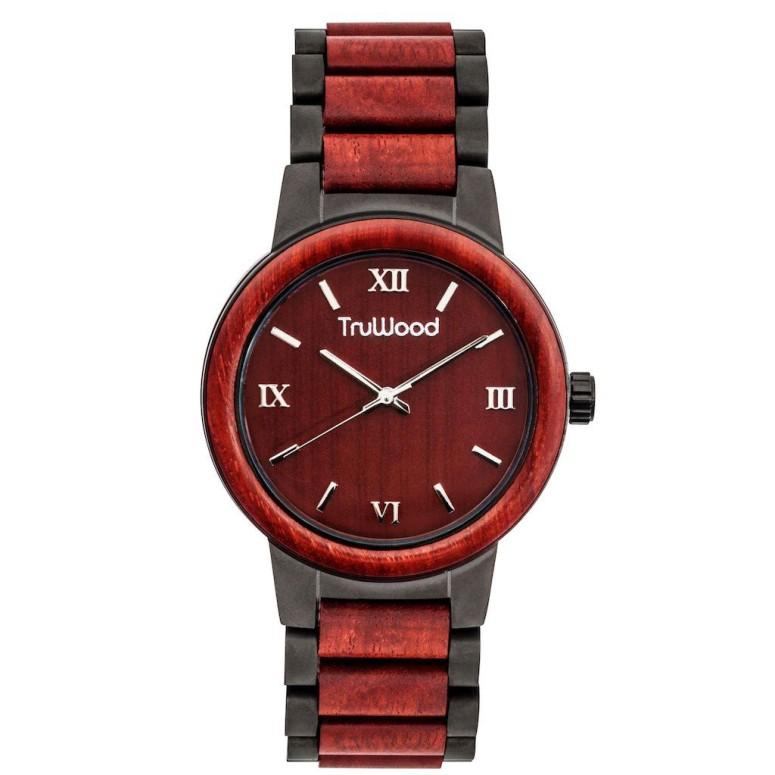 トゥルーウッド truwood ウッドウォッチ 木製腕時計 女性用 腕時計 レディース ウォッチ レッド 5060412364065 送料無料 【並行輸入品】