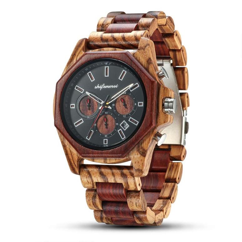 シフェンメイ shifenmei ウッドウォッチ 木製腕時計 男性用 腕時計 メンズ ウォッチ クロノグラフ マルチカラー S5561 送料無料 【並行輸入品】