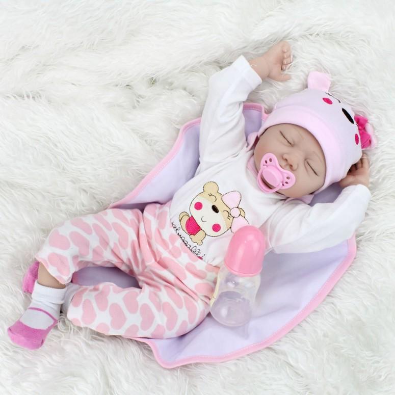Doll Sleeping 送料無料 Reborn Handmade 臨床教育 かわいい Weighted Baby Soft 約55cm 乳児 Kaydora Doll Lifelike Cute 新生児人形 ベビードール Body, ベビー人形 Girl, リアル Silicone 22 【並行輸入品】 ビニール製 inch