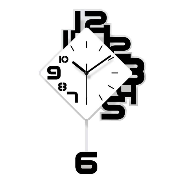 SHISEDECO デザイナーズ 掛け時計 壁掛け時計 おしゃれ Acrylic Pendulum Clock in Multicolor Decorative Modern Silent Wall 日本未発売 大注目 for Available Colorful Living Art - Kitchen Office 229 Room Home 送料無料 Full 並行輸入品 Design Range