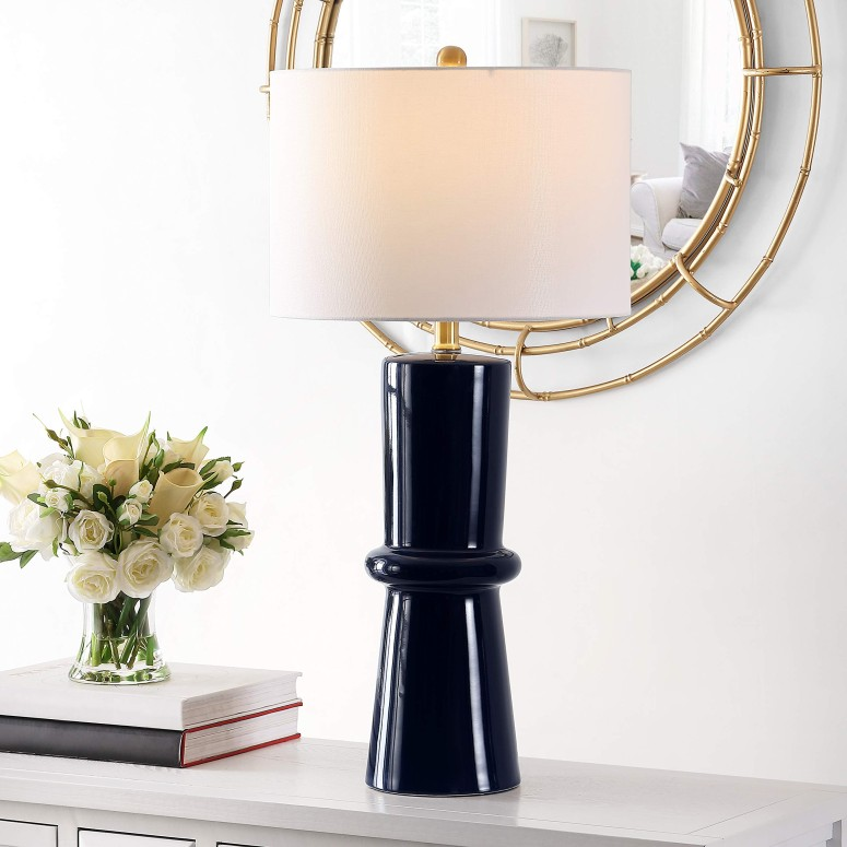 日本初の サファヴィヤ safavieh テーブルランプ サファビヤ Safavieh Lighting Collection Ellaria 31-inch Navy Blue Ceramic Table Lamp (Set of 2) -LED Bulb Included TBL4300A-SET2 送料無料 【並行輸入品】, The Fantasy 82788bdf