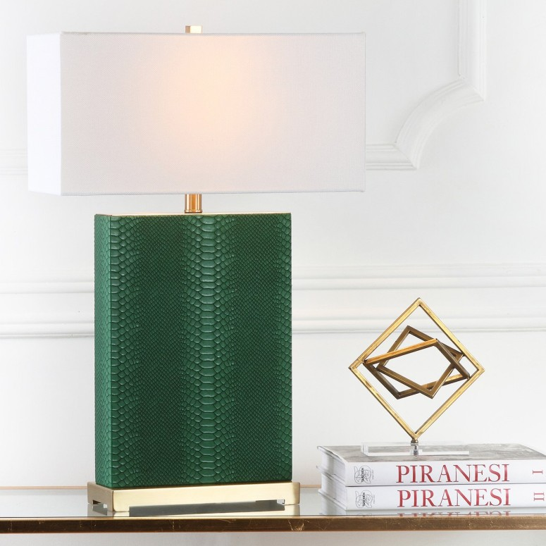 【10%OFF】 サファヴィヤ safavieh テーブルランプ サファビヤ Safavieh Lighting Collection Joyce Cream and Gold Faux Snakeskin 27.75-inch Table Lamp (Set of 2) 送料無料 【並行輸入品】, 人気No.1 921d96e2