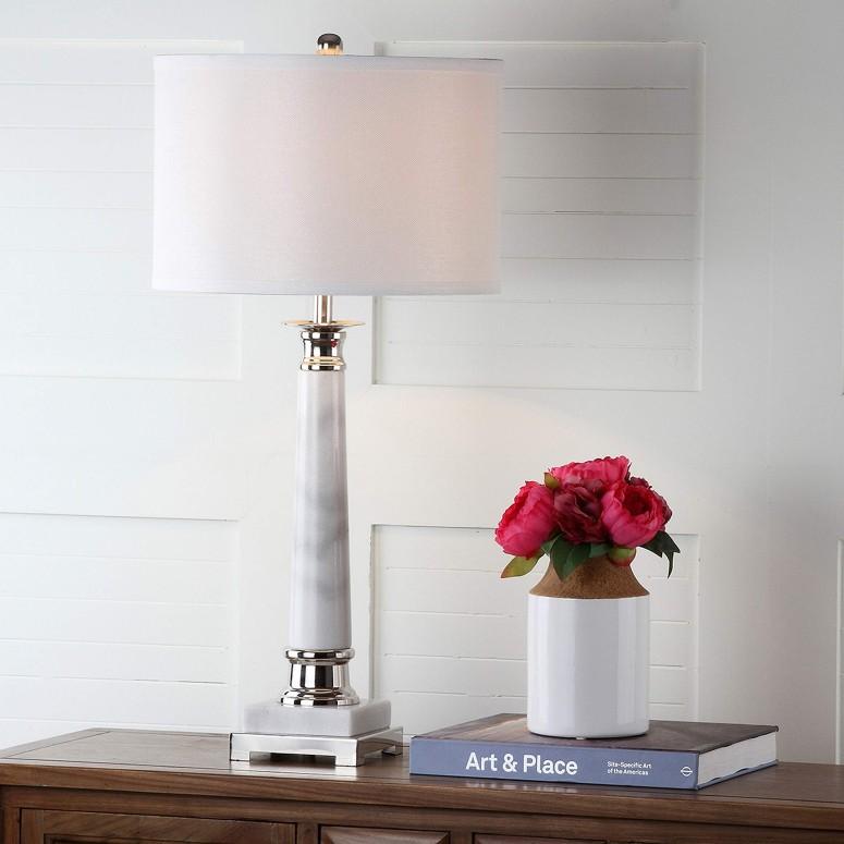 <title>おしゃれなデザイン テーブルランプ サファヴィヤ safavieh サファビヤ Safavieh Lighting Collection Colleen 内祝い White Marble Table Lamp Set of 2 31