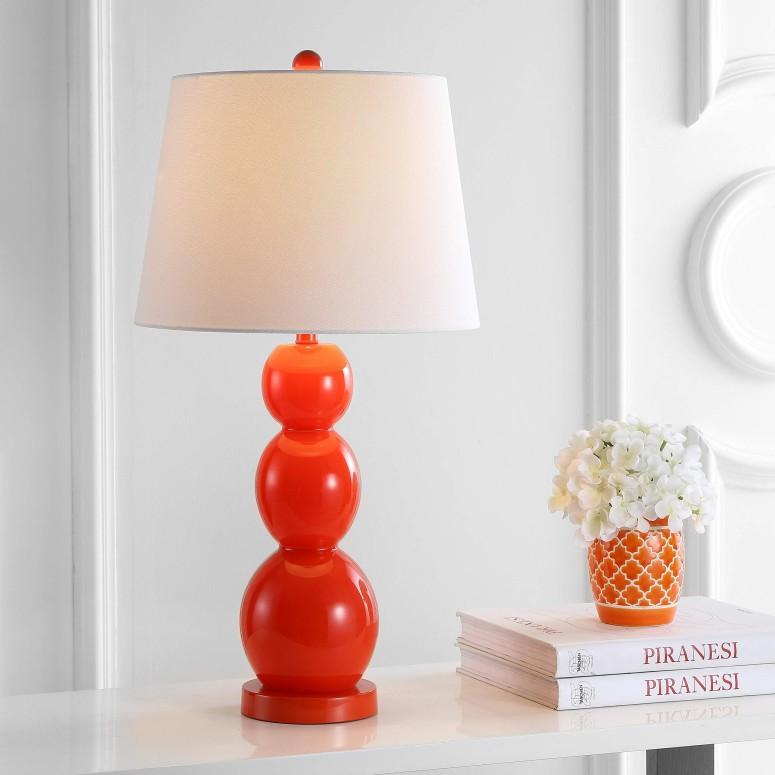 最新作の サファヴィヤ safavieh テーブルランプ サファビヤ Safavieh Lighting Collection Jayne Blood Orange Three Sphere 27.5-inch Table Lamp (Set of 2) 送料無料 【並行輸入品】, ギフトマルシェ b789022f