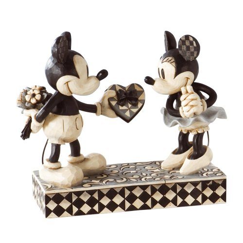 ジム ショア 4009260 ミッキー ミニー 白黒 モノクロ 6-インチ Black and White Mickey and Minnie Valentine Figurine 6-Inch 【 フィギュア 置物 置物 キャラクター 人形 プレゼント クリスマス 誕生日 】 送料無料 【並行輸入品】