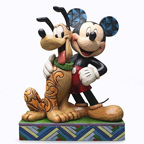 エネスコ ジム ショア ディズニー トラディッション ミッキー&プルート フィギュア 置物 6 インチ Mickey & Pluto Figurine, 6