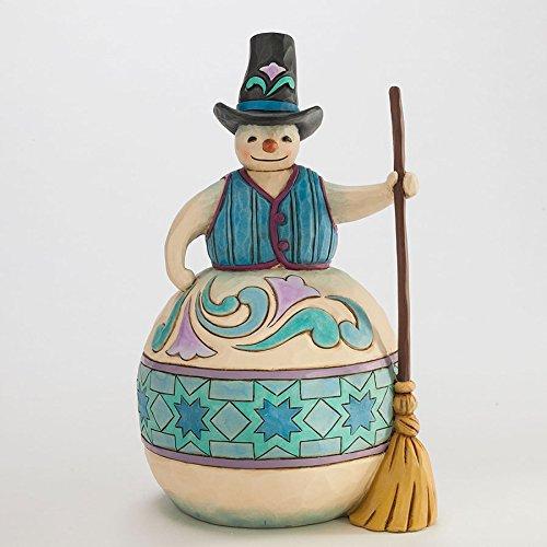 エネスコ ジム ショア ハートウッド クリーク スノーマン ウィズ ブルーム ほうきを持った雪だるま フィギュア 置物 9.625 インチ Snowman with Broom Figurine, 9.625