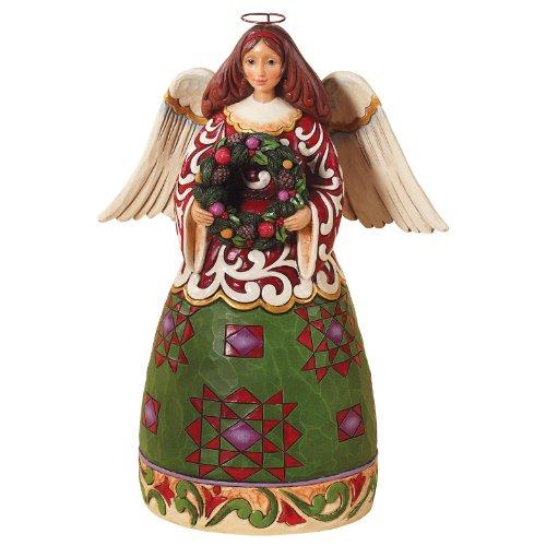 エネスコ クリスマス エンジェル エバーグリーン クリスマスの天使 常緑樹 11.6 インチ Christmas Angel/Evergreen 【 フィギュア 置物 置物 キャラクター 人形 プレゼント クリスマス 誕生日 】 送料無料 【並行輸入品】