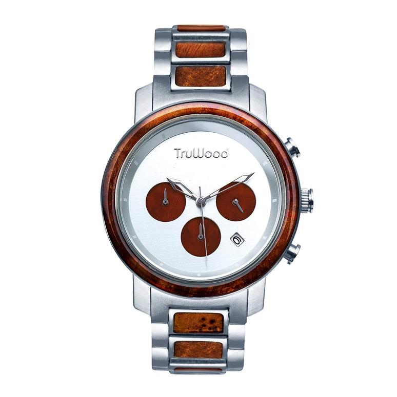 【即納】 トゥルーウッド truwood ウッドウォッチ 木製腕時計 男性用 腕時計 メンズ ウォッチ クロノグラフ シルバー 5060412403009 送料無料 【並行輸入品】